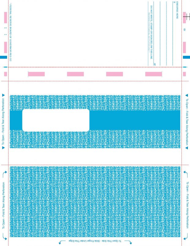 11 Quot Pressure Seal Duplex Payroll Blue Ps109