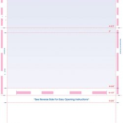 14″ Z-Fold Pressure Seal Form Blue (PSFMPZ-B)