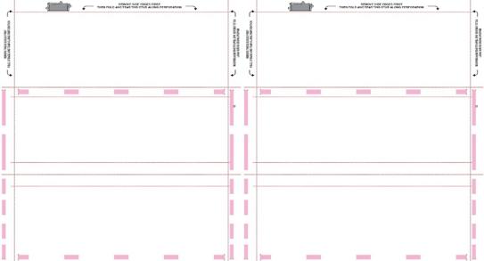 Pressure seal Form 11 X 17 Sheet, Two-wide Z Fold, Blank