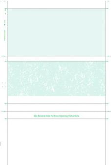 Pressure Seal Check 8 1/2 x 11 Cut Sheet, Z Fold, Blue Void Tint