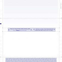 14″ C-Fold Pressure Seal Form w/Return Envelope (RC814BA)