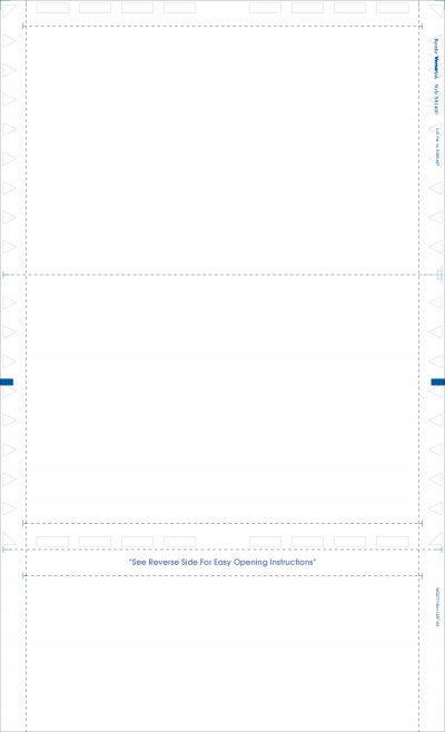 """(X81400 Face) - 14"""" Blank EZ-Fold Form"""