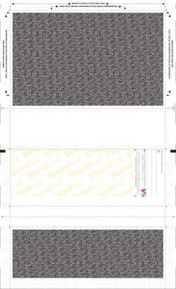 """(X814B2-O) 14"""" EZ-Fold blue original laser check - Back"""
