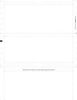 (Z81100 Face) Blank Z-Fold Multi-purpose Form